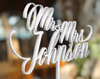 Personalized Cake Topper for Wedding, Mr and Mrs Cake Topper, Custom Personalized Wedding Cake Topper, Customized Wedding Cake Topper 30