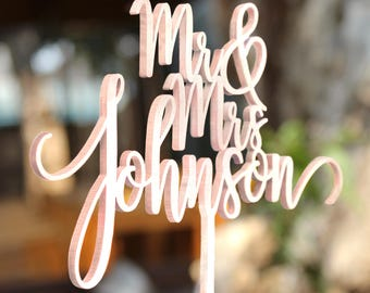 Personalized Cake Topper for Wedding, Custom Personalized Wedding Cake Topper, Customized Wedding Cake Topper, Mr and Mrs Cake Topper 29