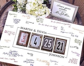 Modern Wedding Guest Book / Wedding Guest Book Alternative / Rustic Guest Book / Classic Wedding Guest Book