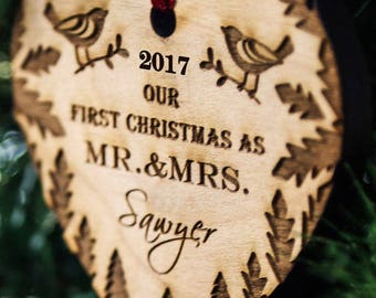 more colors personalized christmas ornament