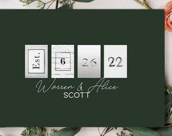 Minimalist Wedding Guest Book / Rustic Wedding Guest Book Alternative  / Unique Wedding Guest Book / Personalized Wedding Guest Book Sign