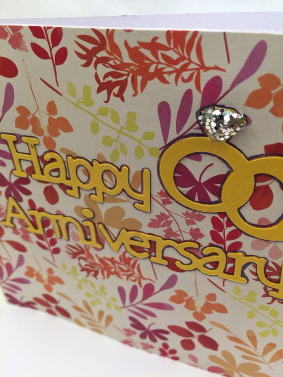 Handmade Greeting Card Happy Anniversary