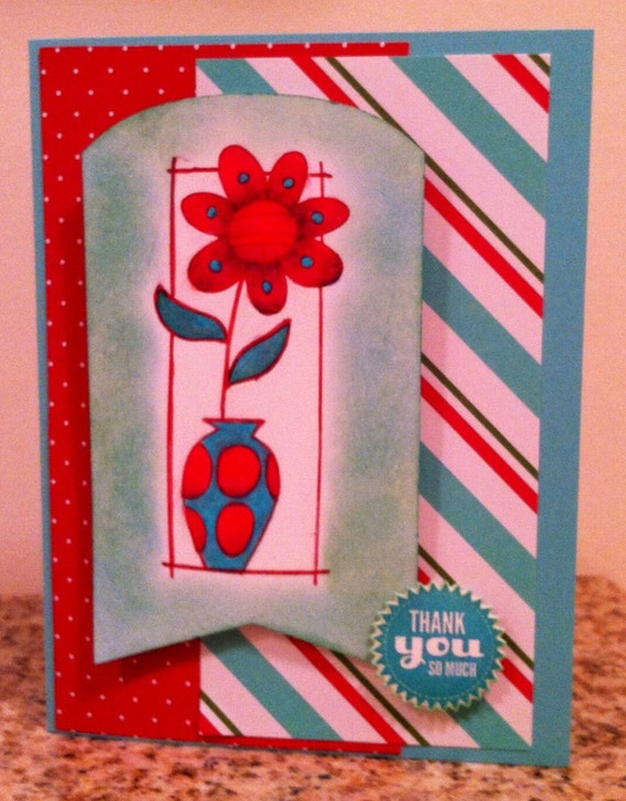 Handmade Greeting Card 3 Assorted Thank You Greeting Cards