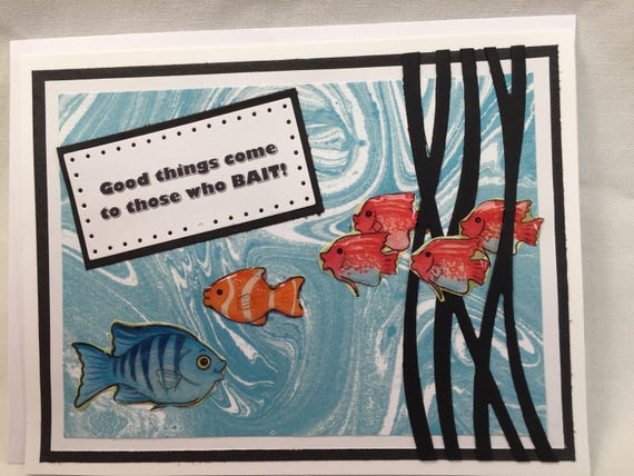 Fishing Handmade Greeting Card