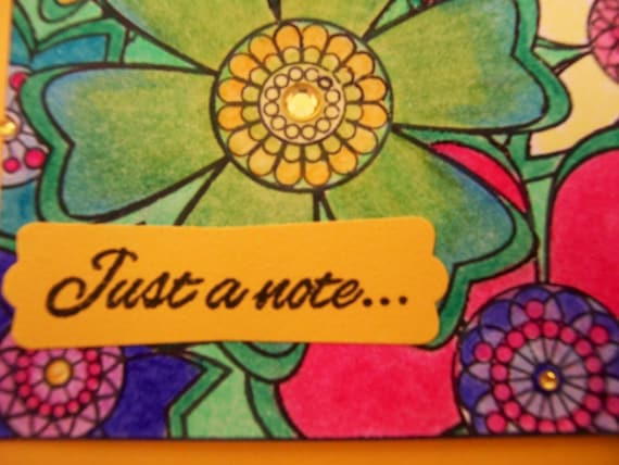 Just a Note Handmade Greeting Card
