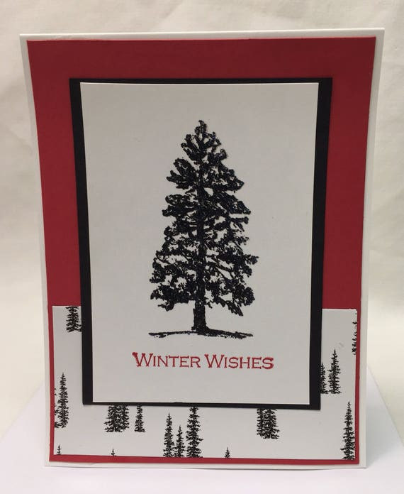 Handmade Greeting Card Winter Wishes