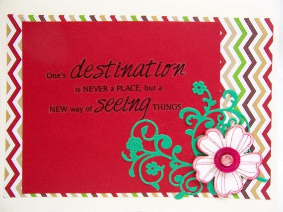 Handmade Greeting Card Travel Destination