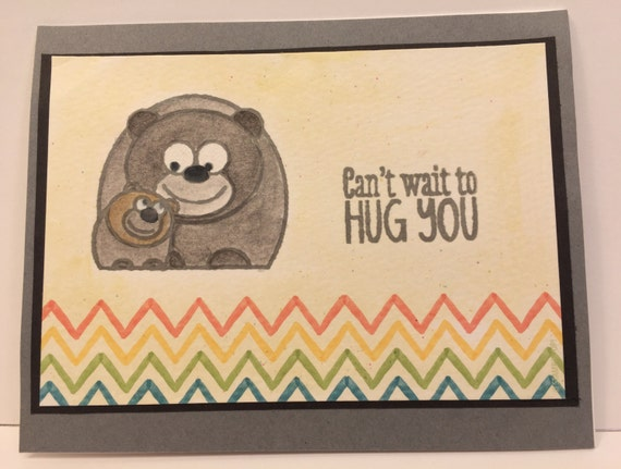 Bear Hugs Handmade Greeting Card