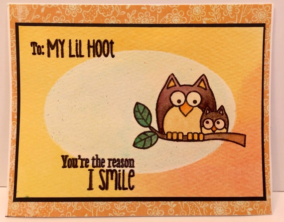 My little HOOT Handmade Greeting Card