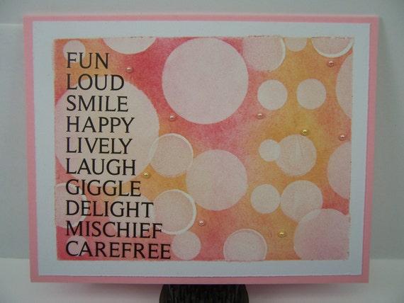 Handmade Greeting Card Boken