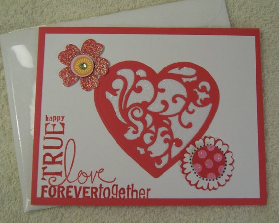 Handmade Greeting Card True Love Together Forever Greeting Card