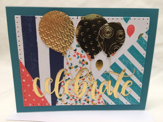 CELEBRATE Handmade Greeting Card