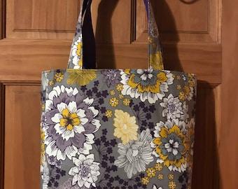 Reversible Flower Tote Bag