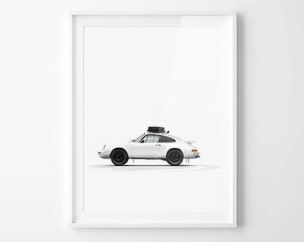 Porsche 911 Side - Stamped - Unframed