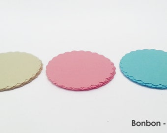 "30 - Scalloped Circles ""Candy"""