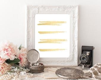 Printable Gold Abstract Art, Gold Foil Digital Art, Digital Abstract Wall Art, Gold Wall Decor, Home Decor, Printable Art