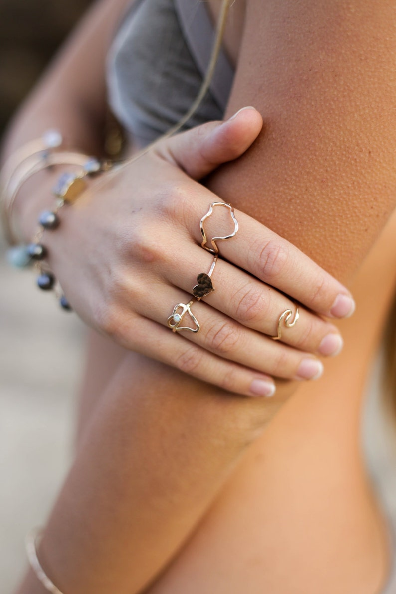 Opal Shark Tooth Ring