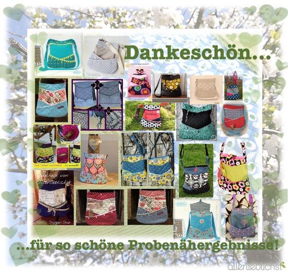 new products df2b9 3a37a Adelheid! Schnittmuster Tasche!
