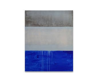 Blue and Grey Drippy Rothko-esque. Mid-century modern painting. Modernist painting. Mark Rothko inspired painting. Abstract seascape.