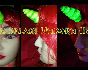 Citrus splash unicorn  horn featherweight uv reactive
