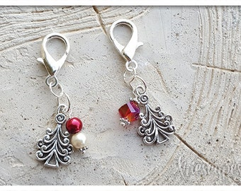 Christmas Berry Stitch Markers & Charm