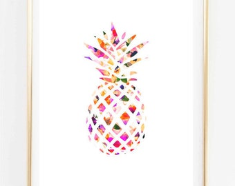 Pineapple Drawing Etsy