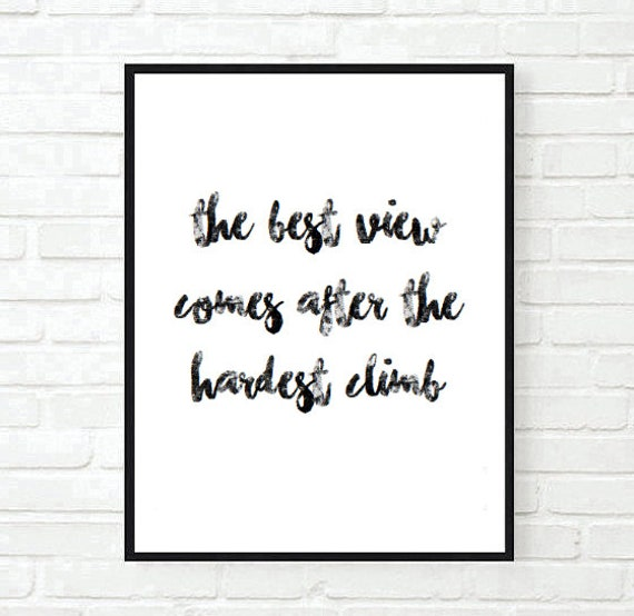 The Best View Quote Inspirational Office Family Typographic Etsy