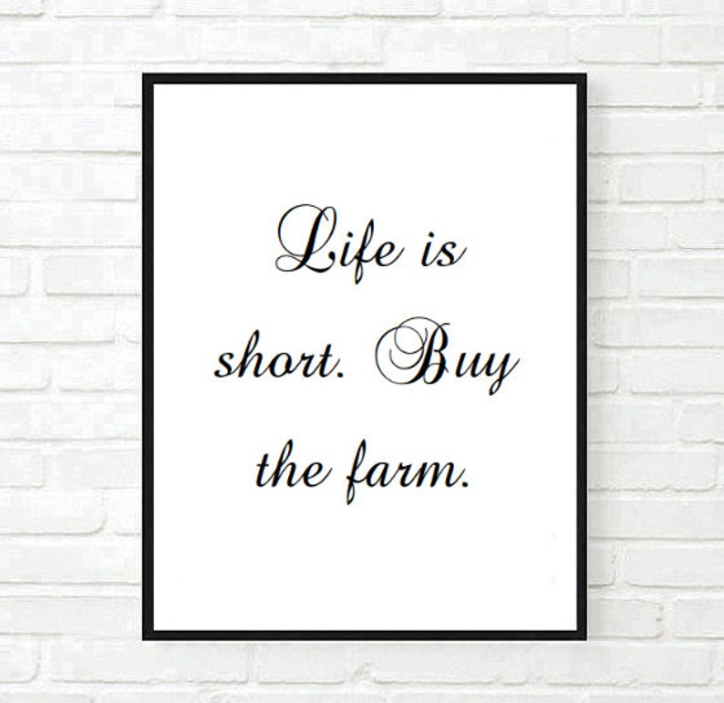 Farmhouse Funny Inspirational Quote Family Typographic Print Etsy