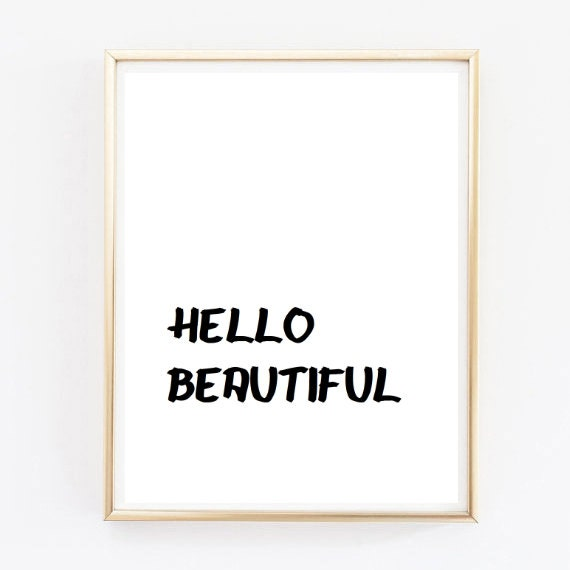 Hola hermosa brandy melville lindo tumblr citar tipográfico | Etsy