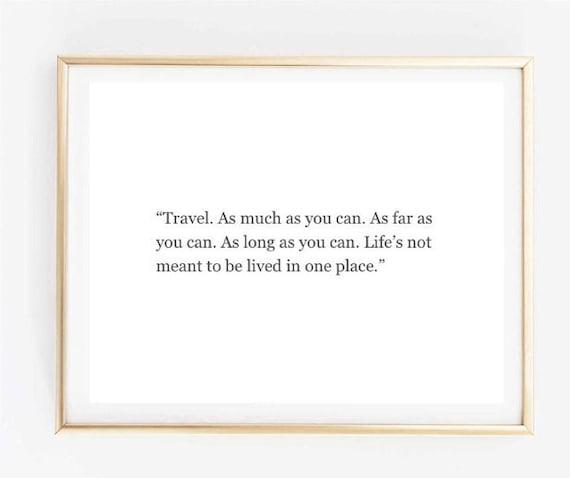 Travel Quote Room Decor Love Inspirational Tumblr Etsy