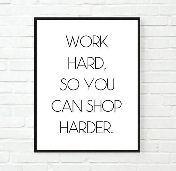 Werk Hard Zodat U Moeilijker Inspirerende Tumblr Offerte Typografische Print Grappige Waar Droom Motiverende Tumblr Kamer Decor Citaten Winkelen Kunt