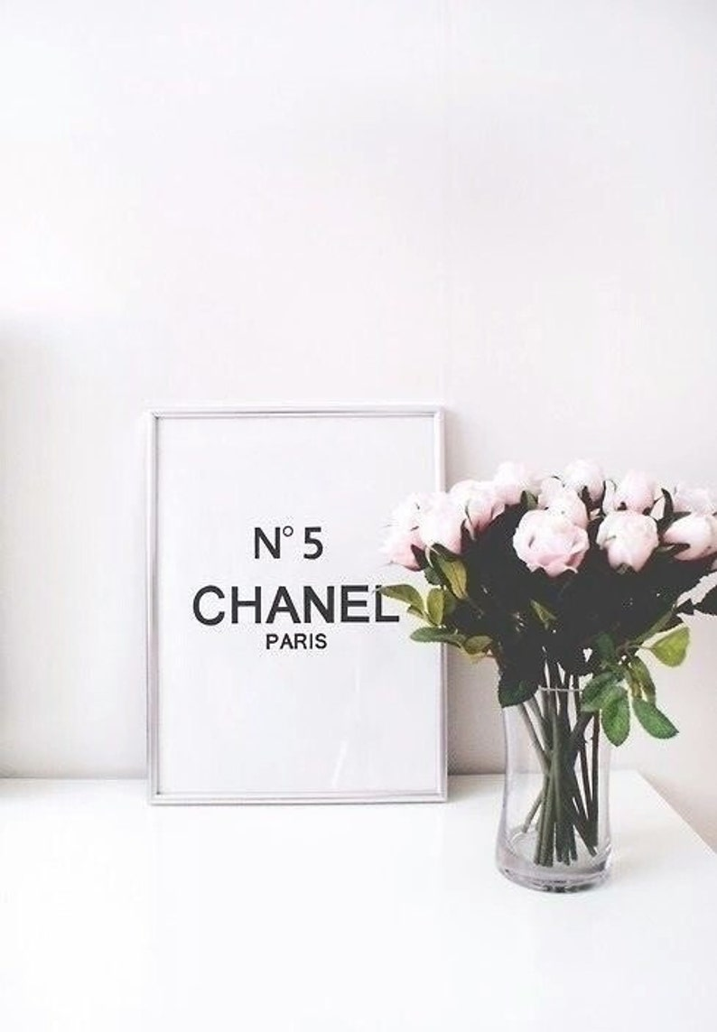 cd750e5745e3 No5 chanel room decor chanel 8x10 saying funny quote