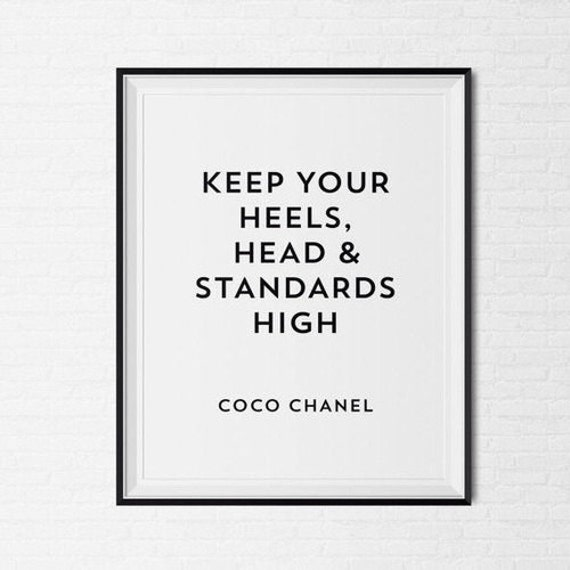 coco chanel frame quote tumblr pintrest quote typographic etsy