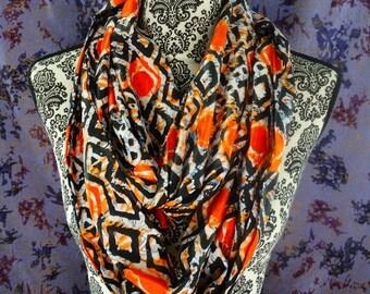 Kitenge Infinity Scarf, African Print Mobius Scarf, Ankara Snood Scarf, Wax Print, African Fabric, Batik, Scarves, Gele