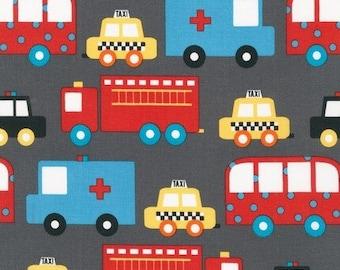 Retro Traffic Jam, Ready Set Go 2, from Robert Kaufman *tula*