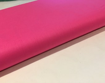 Raspberry (Bright Pink) Cotton Couture Solid, from Michael Miller Fabrics