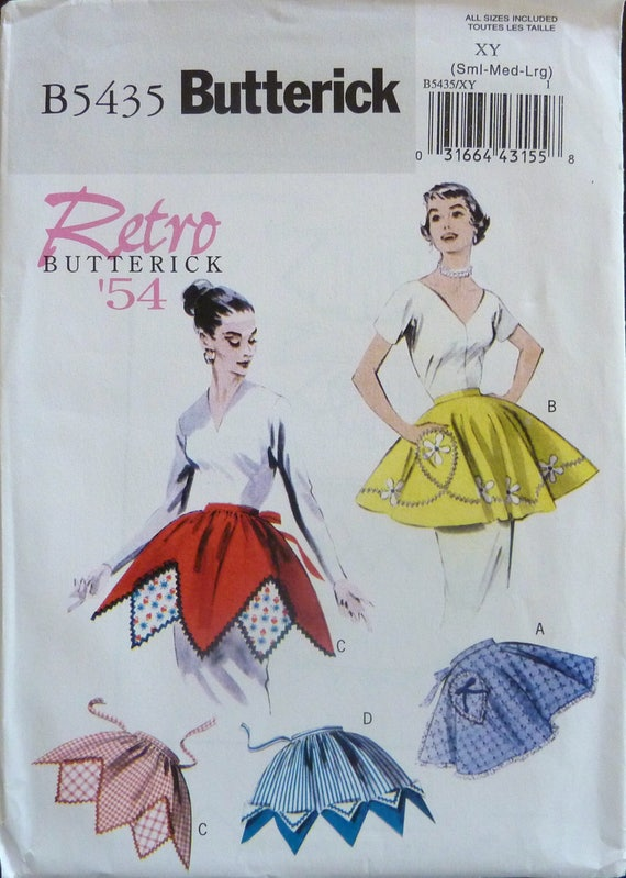 Butterick patrón de costura 5435 de los años 1950 delantales | Etsy