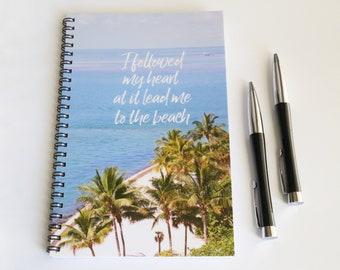 Beach Notebook, Ocean Journal, Lined Notebook Notebook Journal, Spiral Notebook Beach Gift Ocean Gift Beach Gifts Gifts for Her Florida Gift