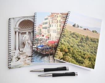 Italy Gift, Travel Journals, Italy Notebook Set, Journal Notebooks, Rome Journal Venice Notebook Tuscany Gift, Italy Gift Set of 3