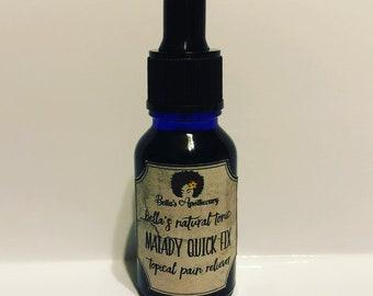 Malady Quick Fix - Topical Pain Killer, Massage Oil