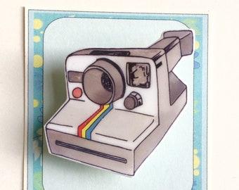 Polaroid Camera Pin Brooch