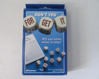 PRESSMAN Don/'t You Forget It Dice Fast Game For Everyone 1 Game