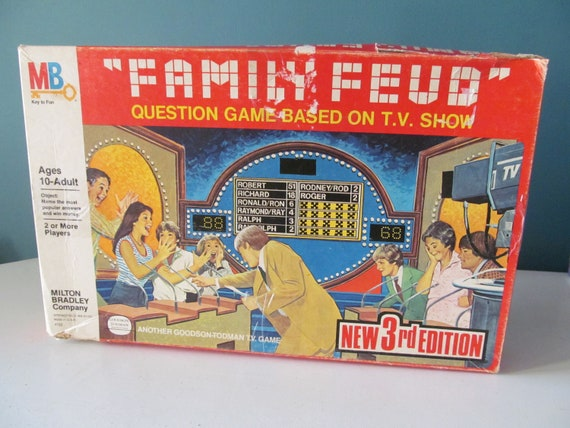 Vintage / Retro 1978 Family Feud New 3rd Edition Question Game Based On TV  Show Board Game By Milton Bradley MB