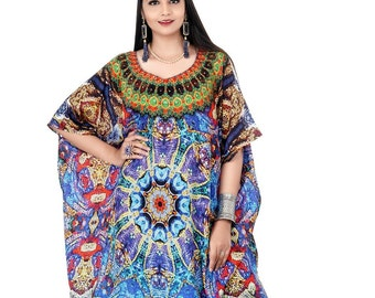 4d901d3747 Vibrant Python Print Silk Kaftan Dress with its patches and necklace  crystals Magic of nature kaftan full length jeweled resort wear 146L