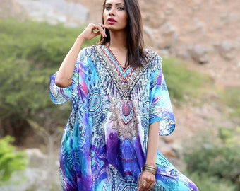 d82f0b8961 Beach kaftan dress for woman beaded/beach wear/one piece jeweled full length  kaftan/ long kaftans/luxury resort wear dressy caftan plus 158