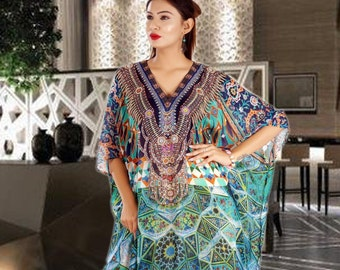 659a4ba7e2 Long Dress Beach kaftan dress for woman beaded/beach wear/one piece jeweled  full length kaftan/luxury resort wear dressy caftan plus 255