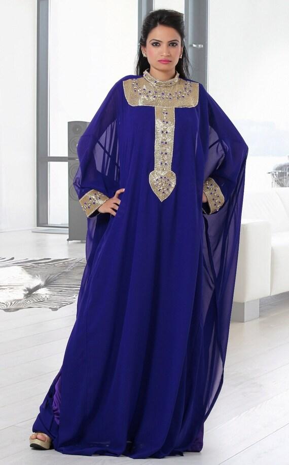 Caftan Silk Wedding Embellished New Dress Kaftan Two 100 Georgette Piece YRPq75v