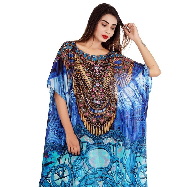 3196bf42ff6 Beautiful womans one piece jewelled full length resort wear