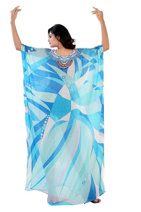 wear dressy for plus woman dress length beaded luxury long kaftan jeweled piece wear caftan one 310 Beach full kaftan kaftans resort beach qUfwqY