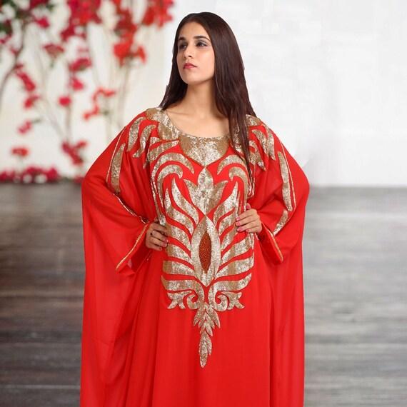 Georgette Silk New Piece Two Wedding Dress Kaftan Embellished 100 Caftan EqTTHxAUw